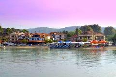 Greek seaside village Stock Photography