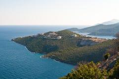 Greek seaview. View on a Greek sea coast Stock Photos