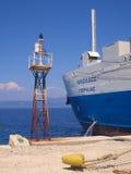 Greek Ship in Paxos Stock Image
