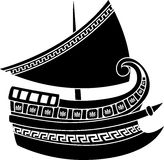 Greek ship stencil Stock Image