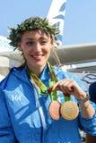 Greek shooting star Anna Korakaki - Rio Olympics Stock Photo