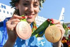 Greek shooting star Anna Korakaki - Rio Olympics Stock Image