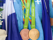 Greek shooting star Anna Korakaki - Rio Olympics Royalty Free Stock Photo