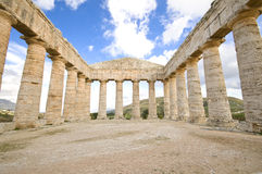 greek sicily temple royaltyfri foto