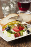 Greek side salad Stock Photo
