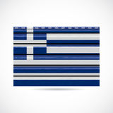 Greek siding produce company icon Royalty Free Stock Photos