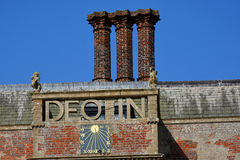 Greek Sign, Felbrigg Hall, Norfolk, England Stock Photo