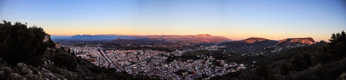 Greek skyline Stock Photography