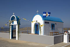 Greek small church Royalty Free Stock Images