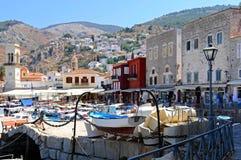 Greek small town Royalty Free Stock Photos