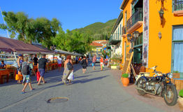 Greek small town street Royalty Free Stock Image