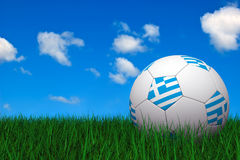 Greek soccer ball Stock Photo