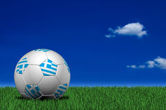 Greek soccer ball Stock Images