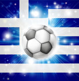 Greek soccer flag Royalty Free Stock Images