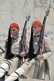 Greek soldiers Stock Photography