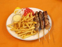 Greek souvlaki Stock Image