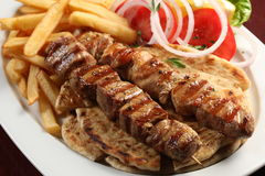 Greek souvlaki Royalty Free Stock Image