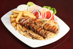 Greek souvlaki Stock Photography