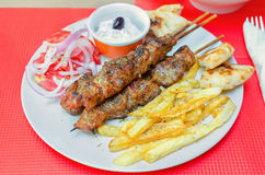 Greek souvlaki Royalty Free Stock Photography