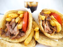 Greek Souvlaki gyros Stock Photo