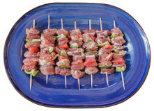 Greek souvlaki on a plate Stock Image