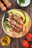 Greek souvlaki skewer Stock Image