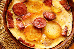 Greek (or Spanish) omelet Stock Images