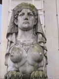 Greek sphinx (frontal) Royalty Free Stock Photos
