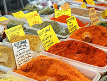 Greek Spices. Different types of Greek spices for sale stock image
