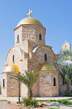 Greek St.John the Baptist Church in baptism site Stock Images