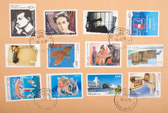 Greek stamps Stock Photos