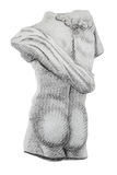 Greek statue drawing copy Royalty Free Stock Image