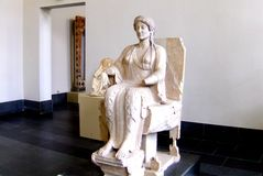 Greek statue in  Pergamon Museum in Berlin Stock Photography