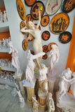 Greek statues, souvenirs in Plaka, Athens Royalty Free Stock Photography