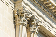 Greek Stone Corinthian Columns Stock Images