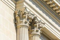 Greek Stone Corinthian Columns. Greek Temple Ancient Stone Corinthian Columns Stock Images