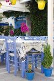 Greek street restaurant Royalty Free Stock Photo