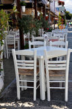 Greek street taverna Royalty Free Stock Images