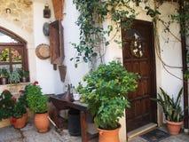 Greek Street in the village Royalty Free Stock Photo