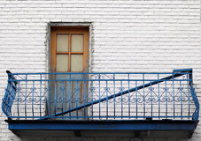 Greek style balcony in Montreal Stock Photo