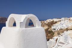 Greek style chimney Stock Photos