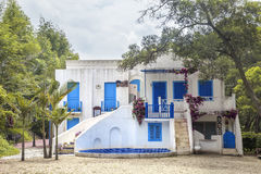 Greek style house Royalty Free Stock Photos