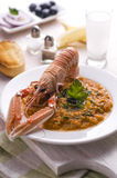 Greek style langoustine Royalty Free Stock Photography
