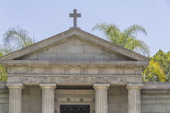 Greek style mausoleum,El campo Santo Homestead Museum Royalty Free Stock Photo