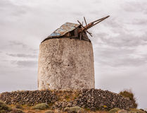 Greek style old windmill in Kimolos island,  Cyclades Stock Images