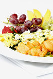 Greek style omelette with assorted fruits Royalty Free Stock Image