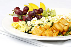 Greek style omelette with assorted fruits Stock Image
