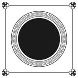 Greek style ornamental decorative frame pattern isolated. Greek Ornament. Vector antique frame pack. Decoration element patterns i royalty free illustration