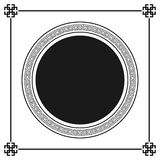 Greek style ornamental decorative frame pattern isolated. Greek Ornament. stock illustration
