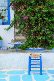 Greek style resting corner Stock Photo